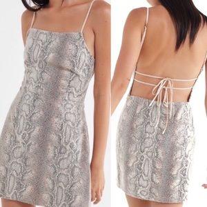 Urban Outfitters Textured Snakeskin Mini Dress